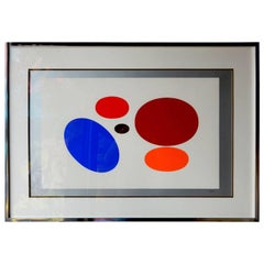 Yaacov Agam (1928-) Sequential OP-ART Serigraphs Five-Part, circa 1970s