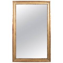 Louis XVI Gilt Mirror with Original Mercury Glass