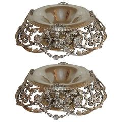 Monumental Pair of Tiffany & Co. Sterling Centerpiece Bowls Johnny Cash Estate