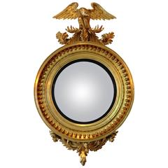 Gold Gilt Convex Mirror, circa 1840