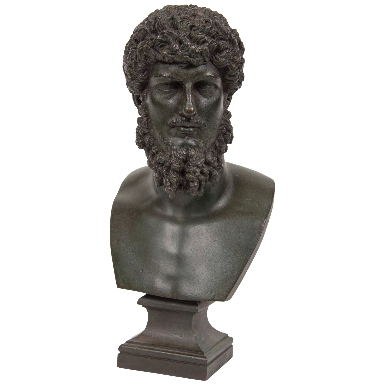 19th Century Grand Tour Patinated Bronze Bust of Lucius Verus