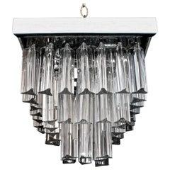 Beautiful Small Italian Flush Crystal Light by Venini