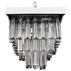 Beautiful Small Italian Flush Crystal Light by Venini