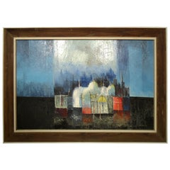 """Mid-Century Painting """"Alpine Lights"""" by """"LaBadessa"""""""