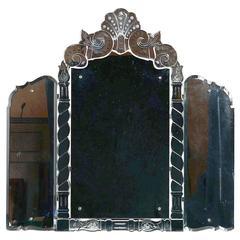 Venetian Tripple Plate Overmantel Mirror