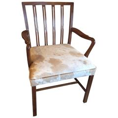 Danish Tall Back Accent Chair