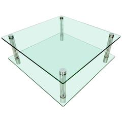 Mid-Century Glass and Lucite Coffee Table