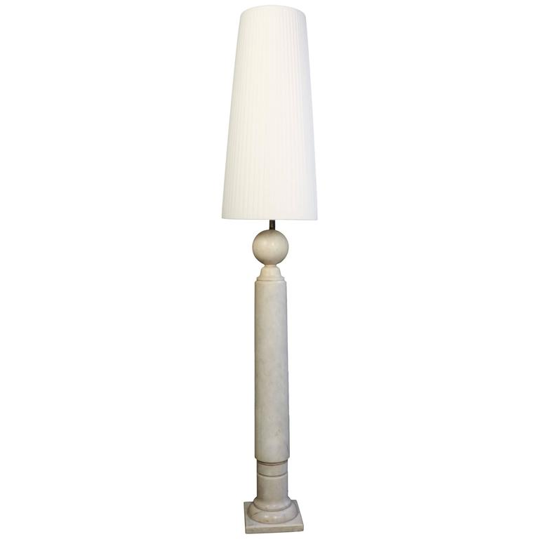 Mid-Century Modern Table Lamp, circa 1970 in Marble