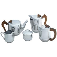 Five-Piece English Tea and Coffee Set by Picquot