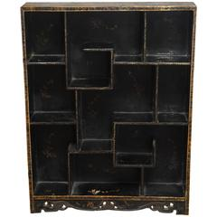 Chinese Lacquer Etagere Display Shelf