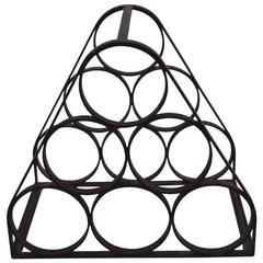Six Bottle Iron Wine Rack after Umanoff