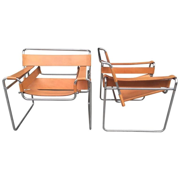 pair of marcel breuer wassily chairs for knoll for sale at 1stdibs. Black Bedroom Furniture Sets. Home Design Ideas
