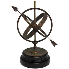 Bronze Astrological Armillary Table Lamp, Frederick Cooper Lamp Co.