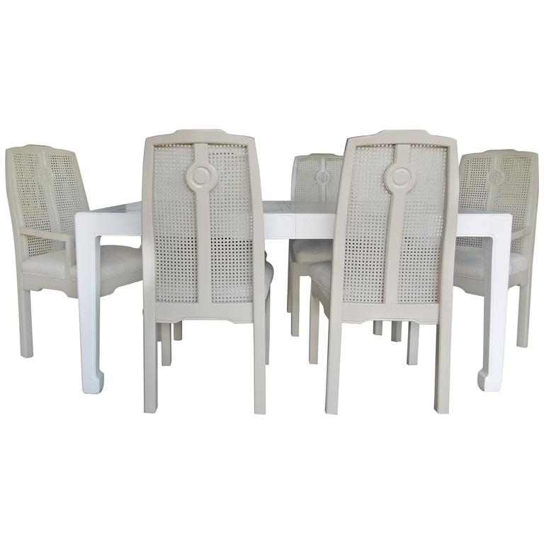 1960s Drexel Hollywood Regency Chinoiserie Dining Room Set