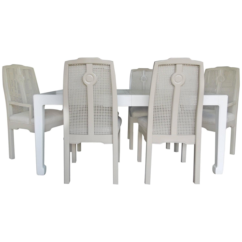 drexel dining room furniture 1960 | 1960s Drexel Hollywood Regency Chinoiserie Dining Room Set ...