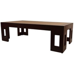 Two Tone Moderne Art Deco Coffee Table