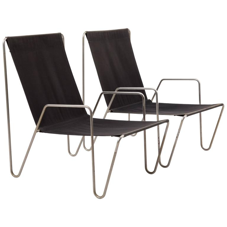 Pair Of Bachelor Chairs By Verner Panton For Fritz Hansen, 50 Years Old For  Sale