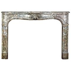 18th Century Regency Period Belgian Antique Fireplace Mantel