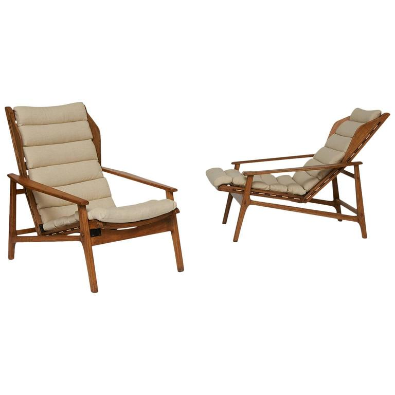 Pair Of Gio Ponti Lounge Chairs