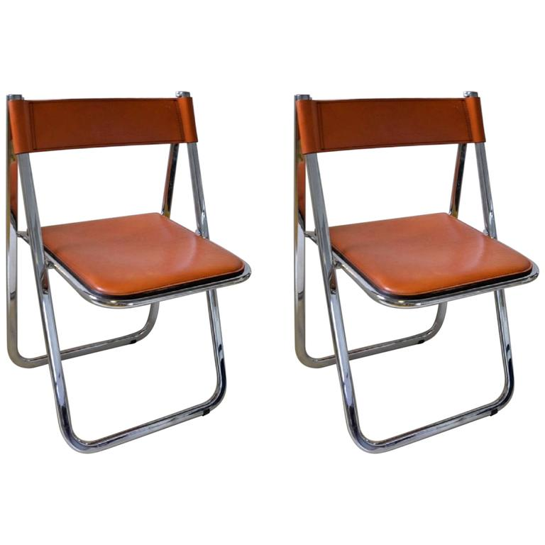 This Pair Of Tamara Folding Chairs By Italian Maker Arrben Is The  Quintessential Example Of The