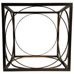 Modern Regency Bronze and Brass Table Base