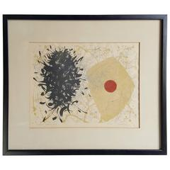 """Modernist Abstract Lithograph by Tetsuo Ochikubo, """"Cosmic Journey"""""""
