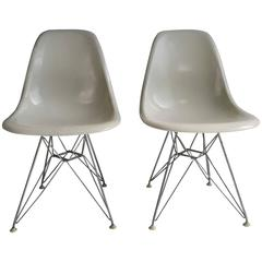 Eames Shell Chairs on Original Eiffel Bases 1950s
