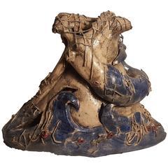 Ceramic Sculpture of Vietri la Sirena Signed by Teresa Liguori, Vietri, 1980s