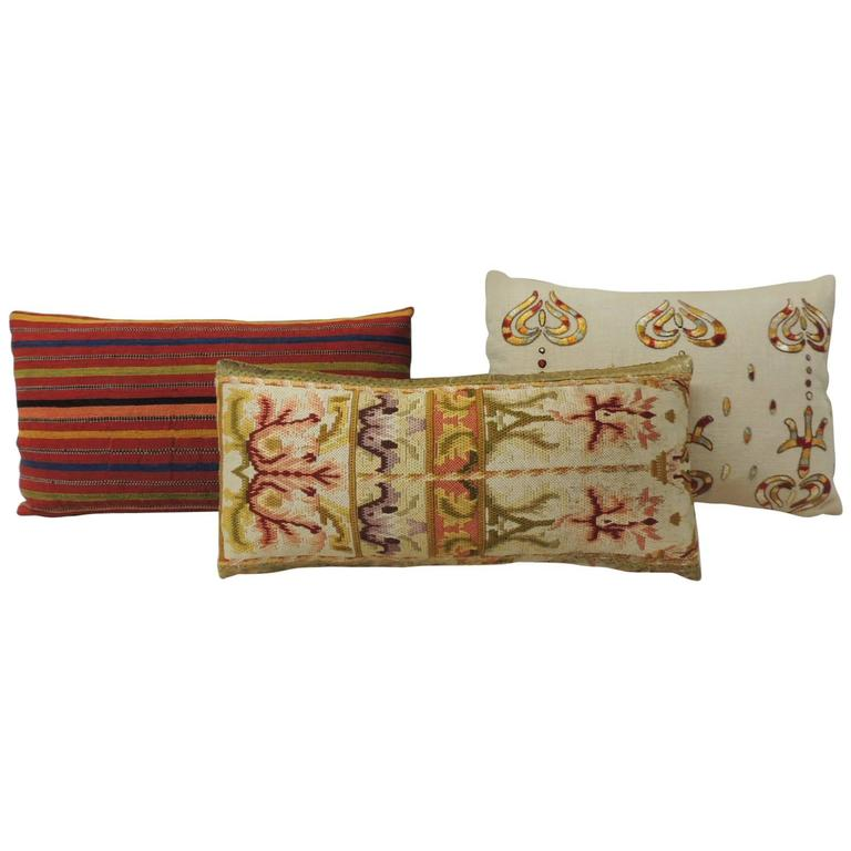antique textiles decorative lumbar pillows for sale at 1stdibs