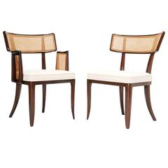 Set of up to 12 Magnificent Edward Wormley Dining Chairs for Dunbar