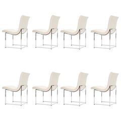 Set of Eight Milo Baughman Scoop Dining Chairs