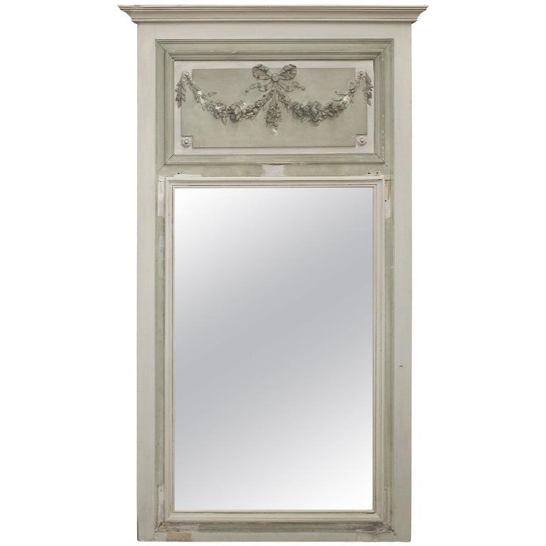 20th Century Wall Panel Trumeau Mirror