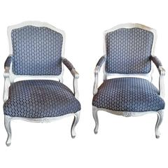 Pair of French Styled Fauteuils Chairs