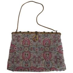 Exquisite Vintage French Beaded Bag from Paris, 1940s