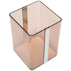 Lucite and Chrome Waste Paper Bin