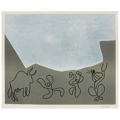 Pablo Picasso Bacchanal Linoleum, 1959