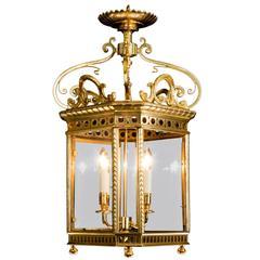 Large Antique Brass Lantern