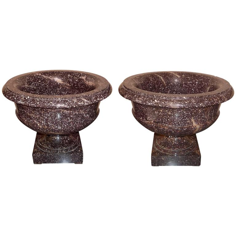 pair of gustav iv adolf period swedish blyberg porphyry vase