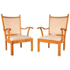 Set of Two Easy Chairs by Bas Van Pelt for My Home, Netherlands, circa 1940