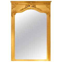 19th Century French Mirror with Gold Plating