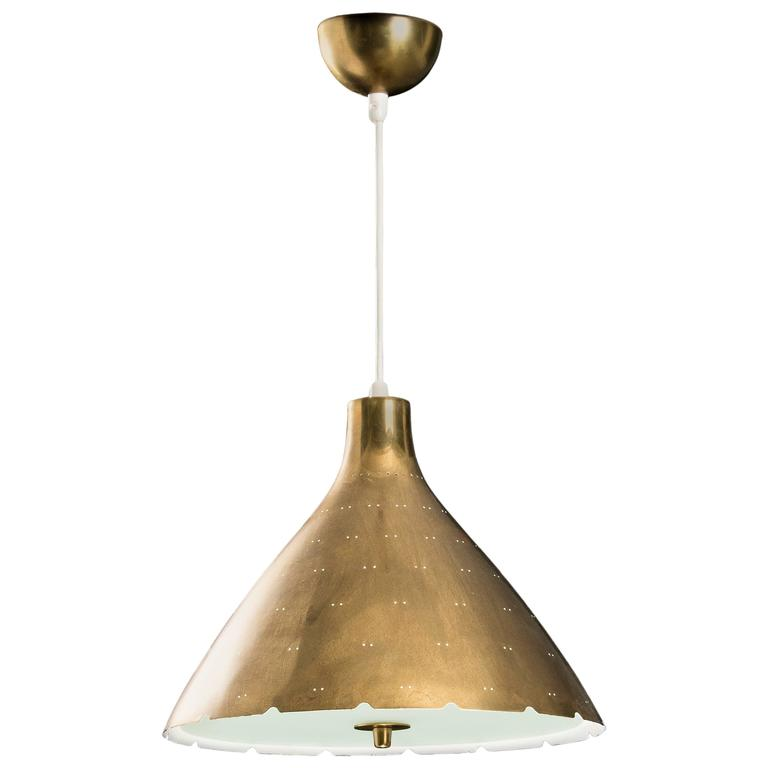 Paavo Tynell Brass Pendant for Taito Oy 1949s