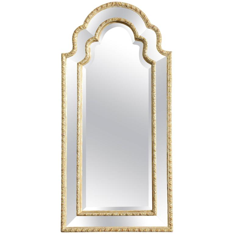 queen anne mirror sconce queen anne arched giltwood border glass mirror for sale at 1stdibs
