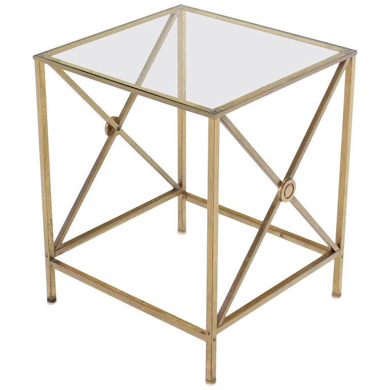 Forged brass cube shape x base side end table for sale at - Cube table basse ...