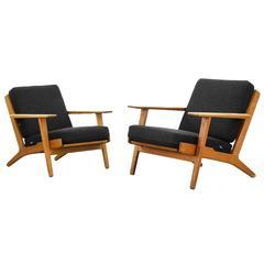 Lounge Easy Chairs by Hans J. Wegner for GETAMA GE 290