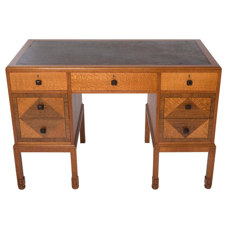 Heals Of London Lace Wood Veneered Desk England Circa 1920 For Sale At 1stdibs