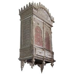 Alhambra Bronze Wall Cabinet / Torah Ark In the Islamic Nasrid Style - Signed