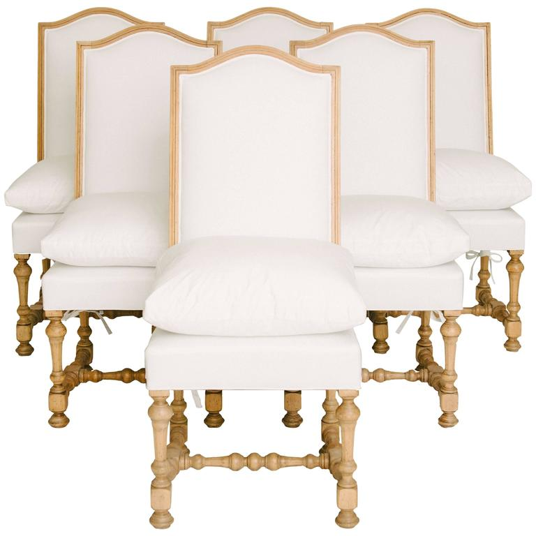 Set of Six 19th Century Louis XIV Style Dining Chairs