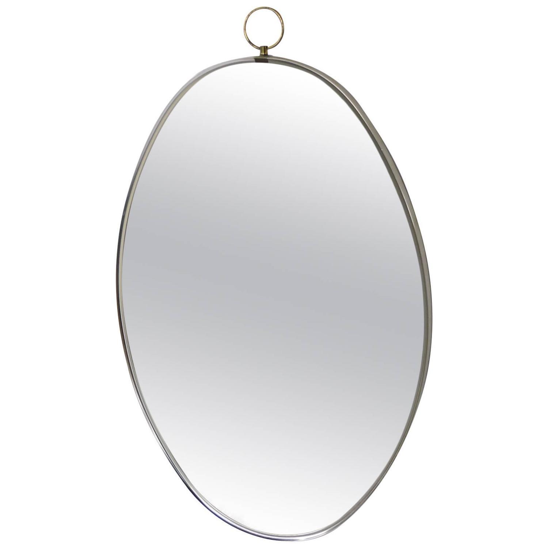1960 39 S Italian Style Oval Brass Mirror At 1stdibs