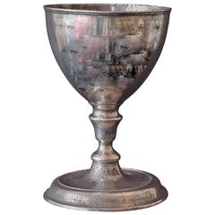 Polished Pewter Cup, Scottish, 17th Century