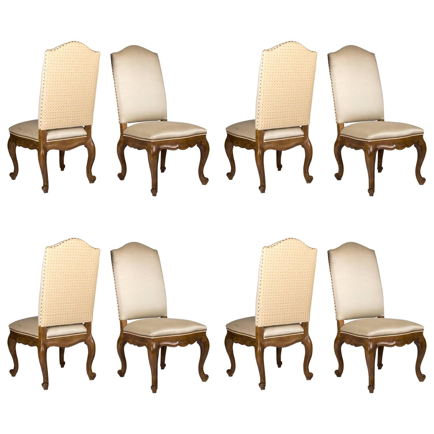 Eight Barcelona Style Dining Side Chairs For Sale at 1stdibs